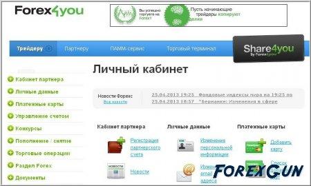 Проект Share4you автокопирование сделок на рынке Форекс!